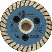 Алмазный диск 65мм с резьбовым фланцем Trio-Diamond