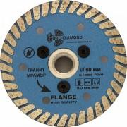 Алмазный диск 80 мм с резьбовым фланцем Trio-Diamond